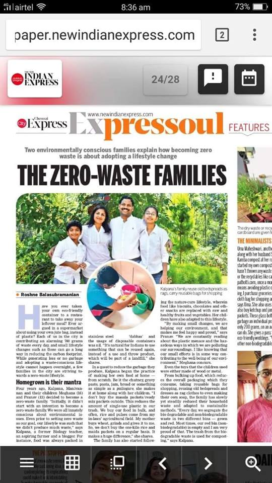 The New Indian Express Article